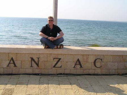 Sitting at the stage area overlooking Anzac Cove